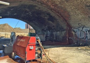 Diamond Wire Sawing: cutting through rail arches using Holemasters High Output WS30 Diamond Wire Saw