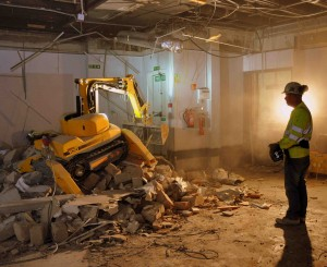 Internal demolition in tight spaces