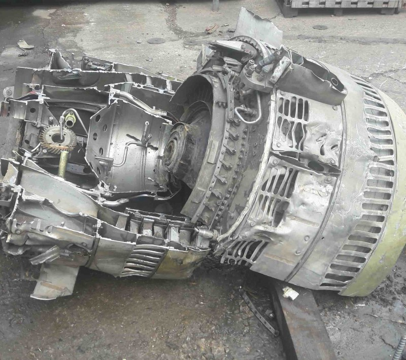 Slicing up steel Jet Engine – a piece of cake!